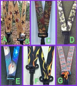 collage of lanyards